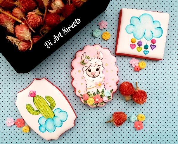 #4 - Llama and Cactus Set! by Di Art Sweets