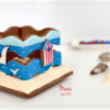 3-D Summer Cookie Box - Where We're Headed!: Design, 3-D Cookie, and Photo by Manu