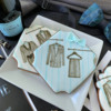 A Closer View!: Cookies and Photo by Julia M Usher; Stencils Designed by Julia M Usher with Confection Couture Stencils