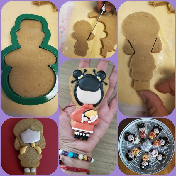 #10 - Repurposed Snowman Cutter for Japanese Doll by Ines Doherty