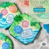 10% Off Sale Banner: Cookies and Photo by Julia M Usher; Graphic Design by Confection Couture Stencils