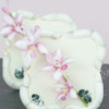 Fondant Bamboo Sugar Cookie and Flowerpaste Asian Orchid Spray: Cookie and Photo by bobbibakes
