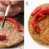 Steps 5e and 5f - Paint Treasure (aka Sanding Sugars): Cookie and Photos by Aproned Artist