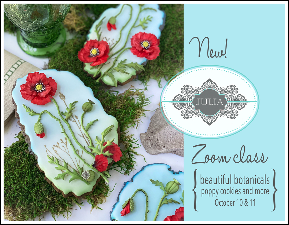 Beautiful Botanicals Cookie Decorating Course with Julia M. Usher