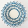 #6 - Blue and White String Art: By Sweet Prodigy