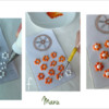 Steps 3e to 3g - Prepare Flower Royal Icing Transfers: Design and Photos by Manu