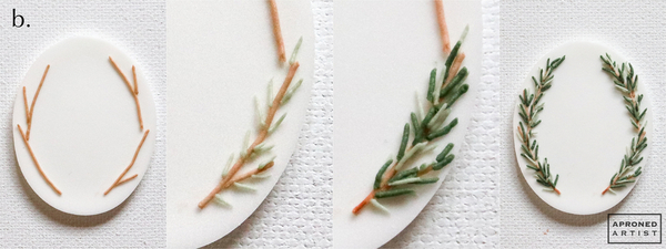 Step 1b - Pipe Rosemary on Platter
