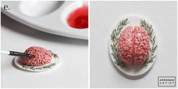 Step 1e - Paint Brain with Corn Syrup