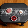 Dracula's Dinner Cookie - Where We're Headed!: 3-D Cookie and Photo by Aproned Artist