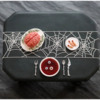 Final Dracula's Dinner Cookie, Top View: 3-D Cookie and Photo by Aproned Artist