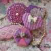 Pink and Lilac Set: Cookies and Photo by Cookies Fantastique