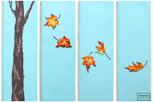 Final Fall Leaves Polyptych