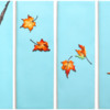 Final Wind-Blown Leaves Polyptych: Cookies and Photo by Aproned Artist