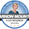Julia's Arkon A-List Badge: Photo by Mattea Linae; Graphic Design by Arkon Mounts