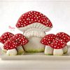 Standing Mushroom Cookie Platter - All Done!: Design, Cookies, and Photo by Manu