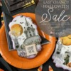 Last Chance Halloween Stencil Sale Banner: Cookies and Photo by Julia M Usher; Stencils Designed by Julia with Confection Couture Stencils