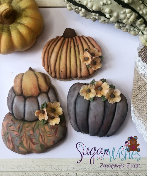 #3 - Hand-dusted Pumpkins by Tina at Sugar Wishes