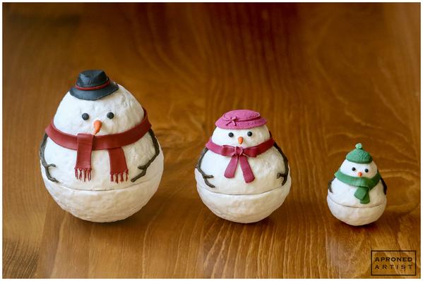 Final Nesting Snowman Family