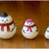 Final Nesting Snowman Family: 3-D Cookies and Photo by Aproned Artist