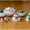 Snowman Family as Containers: 3-D Cookies and Photo by Aproned Artist