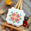 Bulgarian Embroidery Pattern on Cookie: Cookie and Photo by Di Art Sweets