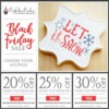 Black November Sale Banner: Cookies, Photo, and Graphic Design by Confection Couture Stencils