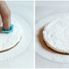 Step 5b - Make Snow Angel Head Indentation: Cookie and Photos by Aproned Artist