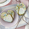 Cookies Using Background Stencil Only: Cookies and Photo by Julia M Usher; Stencils Designed by Julia M Usher with Confection Couture Stencils
