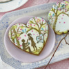 Large Heart with Another Fondant Appliqué Message: Cookies and Photo by Julia M Usher; Stencils Designed by Julia M Usher with Confection Couture Stencils
