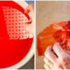 Step 1b - Soak Rice Paper and Place Over Mold: Photos by Aproned Artist