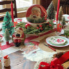 Vintage Santa Tablescape: Table and Photo by Julia M Usher