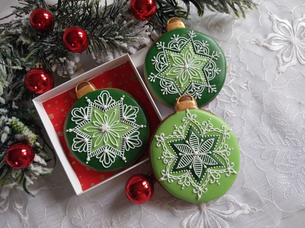 #2 - Green Christmas Ornaments by Bożena Aleksandrow