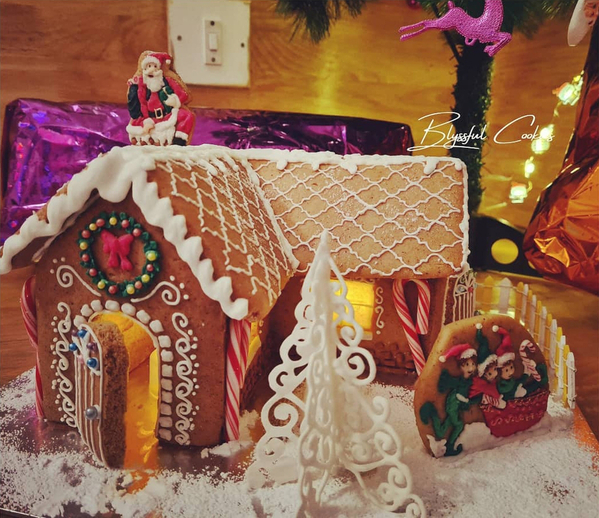 #5 - Moroccan-Style Gingerbread House - View #1 by Blyssful Cookies