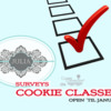 Cookie Class Survey Banner: Graphic Design by Julia M Usher