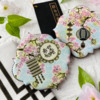 Both Message and Lantern on Cookie: Cookies and Photo by Julia M Usher; Stencils Designed by Julia M Usher with Confection Couture Stencils