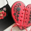 Black Embroidery on Red Corset Heart: Cookie and Photo by Ewa Kiszowara