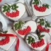 Hearts with Rowanberries: Cookies and Photo by Ewa Kiszowara
