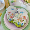 Message Appliqués Dress Up Simpler Cookies: Cookies and Photo by Julia M Usher; Stencils Designed by Julia M Usher with Confection Couture Stencils