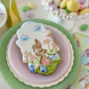 Bunny in Full-Screen View!: Cookie and Photo by Julia M Usher; Stencils Designed by Julia M Usher with Confection Couture Stencils