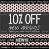 New Arrivals Sale Banner: Graphic Design by Confection Couture Stencils