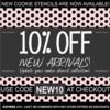 New Arrivals Sale Banner: Graphic Design by Confection Couture Stencils