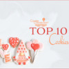 Top 10 Cookies Banner - January 23, 2021: Cookies and Photo by Jani May Cookie Artist; Graphic Design by Julia M Usher
