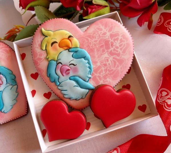 #5 - Lovebirds on Heart by Bożena Aleksandrow