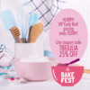 VIP Early Bird Promo Banner for The Bake Fest: Royalty-free Image from Shutterstock; Graphic Design by Julia M Usheer