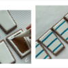 Steps 2c and 2d - Flood Cookies and Paint Stripes: Cookies and Photos by Manu