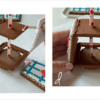 Steps 3c and 3d - Pipe Glue Along Opposing Edges and Attach Two Trapezoids: Design, Cookies, and Photos by Manu
