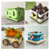 3-D Cookie Projects with Closed Seams: Design, 3-D Cookies, and Photos by Manu