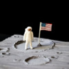 Moon Landing Cookie - Where We're Headed!: Cookie and Photo by Aproned Artist
