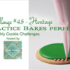 Practice Bakes Perfect Challenge #45 Banner: Photo by Steve Adams; Cookie and Graphic Design by Julia M Usher; Logo Courtesy of Sweet Prodigy