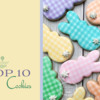 Top 10 Easter Cookies Banner - 3-13-2021: Cookies and Photo by Cookies on Cambridge; Graphic Design by Julia M Usher